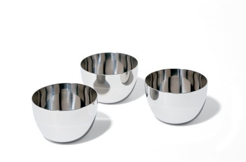 Mami Fondue Bowl in Stainless Steel [Set of 3] by Alessi
