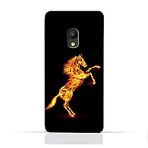 AMC Design Alcatel Pixi4 5.0 3GTPU Silicone Protective Case with Horse on Flame Design