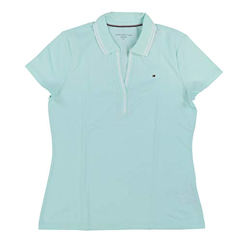 Tommy Hilfiger Womens Abby Polo Shirt (X-Large, Mint -