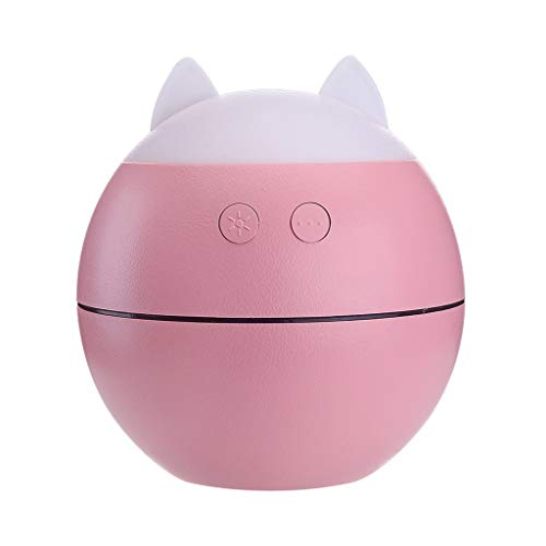 Cartoon Portable Mini Home USB Humidifier Purifier Atomizer Air Purifier Diffuser Gift (Pink)
