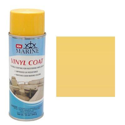 SEM Marine Stingray Yellow Vinyl Coat Vinyl and Plastic Repair Coating for Marine Vinyl