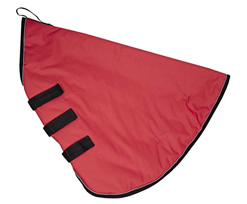 Derby Originals 80-8038RD-XL Windstorm Series Premium Matching Horse Winter Blanket Hood Neck Covers with 1200D Ripstop Waterproof Nylon Exterior-Heavy Weight 150g Polyfil Insulation, Red/Black