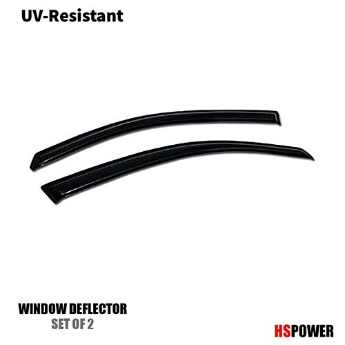 (HS Power 2pcs Front Ventvisor Window Deflector Sun/Rain Guards Smoke Vent Shade Window Visors for 2000-2007 Ford Focus ZX3 3D/3DR)
