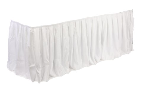 Displays2go 13.5-Feet Long Box Pleated Table Skirt, 162-I...