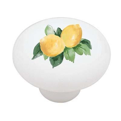 Lemon Branch Ceramic Drawer Knob