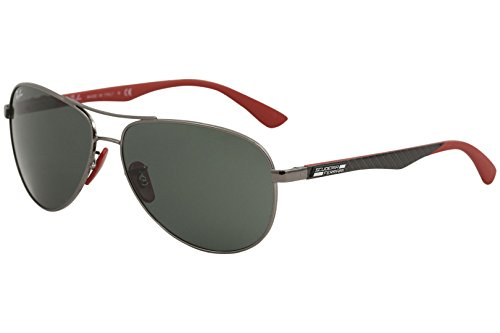 Ray-Ban Men's Steel Man Aviator Sunglasses, Gunmetal, 61 - Case Aviator Rayban