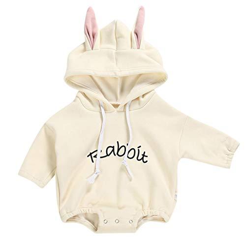Sunhusing Toddler Children's Long Sleeve Style Bunny Cute Rabbit Ears Thin Velvet Hooded Jumpsuit Romper