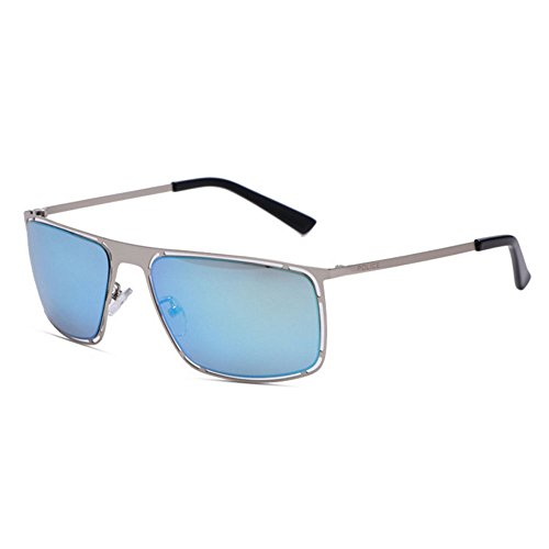 Uv400 carrées lunettes Lunettes décoratifs mode de lunettes hommes blue soleil femmes de soleil de protection métalliques la et A7FSP