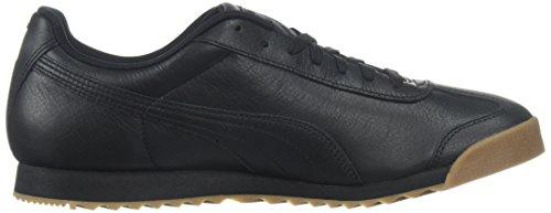 Puma Mens Roma Classic Gum Sneaker Puma Nero-puma Squadra Doro