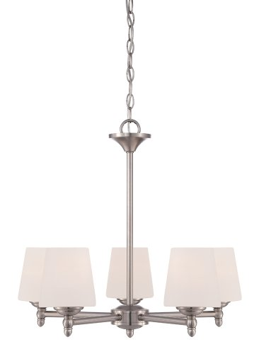 Designers Fountain 15006-5-35 Darcy 5 Light Chandelier, Brushed Nickel