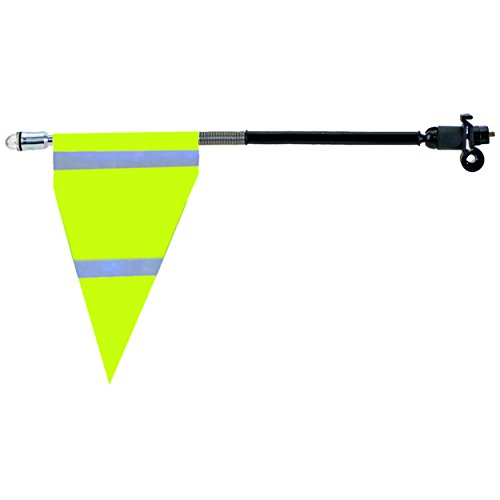 M-Wave Led Safety Flag (Neon Yellow) (Horizontal Reflective Tape)