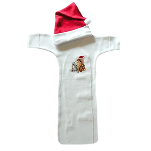 Christmas Puppy and Kitten Bunting Gown
