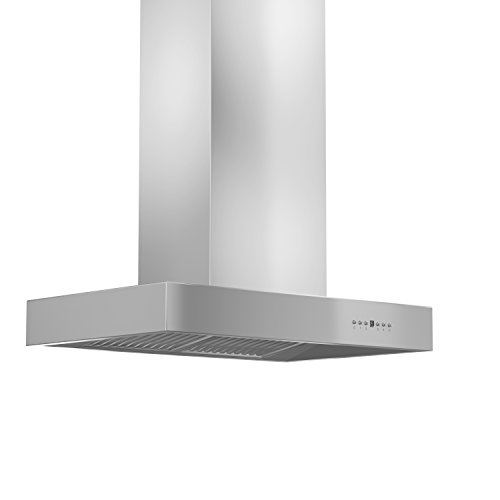 Z Line KECOMi-RD-36 1200 CFM Island Mount Range Hood with Remote Dual Blower, 36