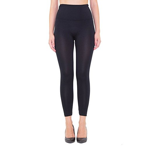 Control Top Pant - Women's Capri High Waist Band Tummy Compression Control Yoga Pants Leggings Black Large X-Large