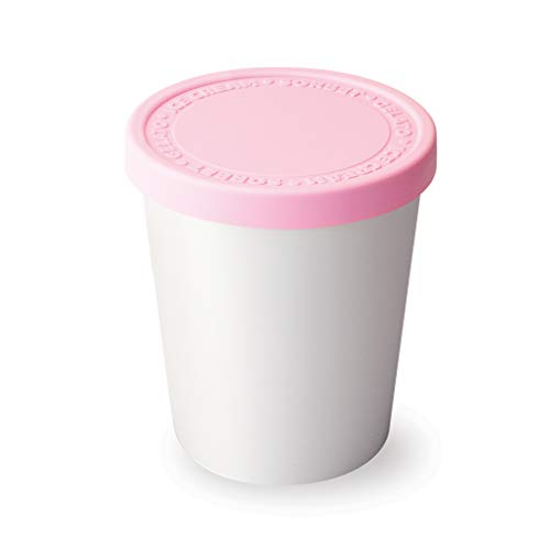 Stack Ice Scoop Cream - Tovolo Tight-Fitting, Stack-Friendly, Sweet Treat Ice Cream Tub - Pink