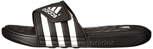 adidas G19102 Performance Men's adissage SC Sandal,Black/White/Black,10 M US