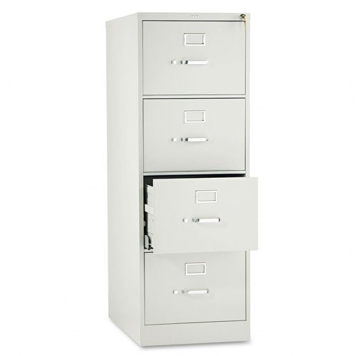 HON 4-Drawer Legal File - Full-Suspension Filing Cabinet with Lock, 52 by 25-Inch Light Gray (H514) (Gray File Cabinets Light)