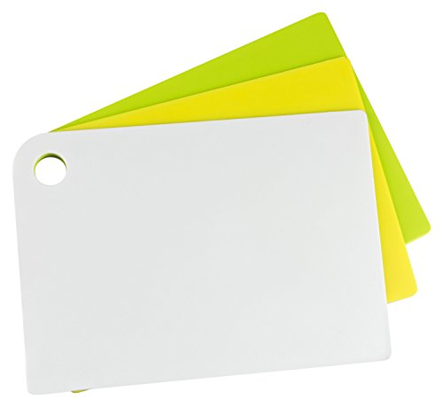 Haushaltsdose Schneidbretter flexibel Slim-Line 3er Set klein 24x17 cm weiß/gelb/grün