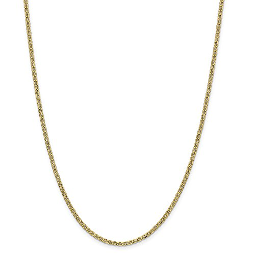 14k Yellow 20in Gold 2.40mm Solid Lightweight Anchor Necklace Chain (Jewelry Pot 14k Gold Chain)
