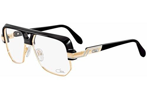 Cazal 672 Eyeglasses 001 Black Gold 59 - Glasses Cazal Men For