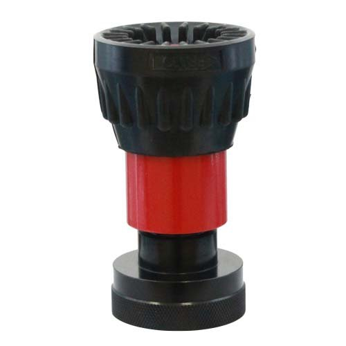 1 1/2'' Heavy Duty Aluminum NPSH Fire Nozzle with Rubber Bumper - Red