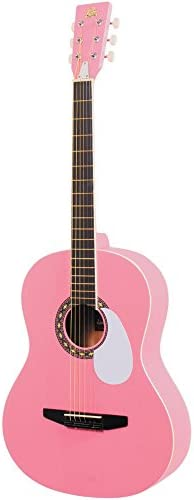 Quality Crafted ST Style 3//4 Mini Electric Guitar NEON Pink Ideal Kids Girl UK