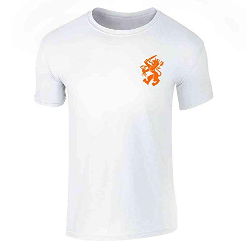 Throwback Costume Ideas (Dutch Soccer Retro National Team Holland Costume White 2XL Graphic Tee T-Shirt for)