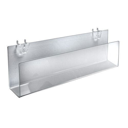 Azar Displays 556091 Clear Acrylic Greeting Card Holder for Pegboard/Slatwall (2 Pack)