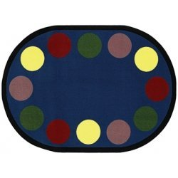 Joy Carpets Kid Essentials Early Childhood Lots of Dots Rug, Earthtone, 7'8'' x 10'9'' by Joy Carpets
