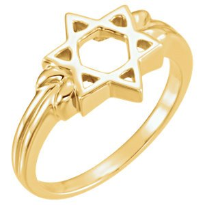 14k Yellow Gold Star of David 12mm Ring, Size 8 by The Men's Jewelry Store (Unisex Jewelry) (Image #3)