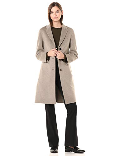 Theory Women's Classic Coat, Taupe Grey, 4
