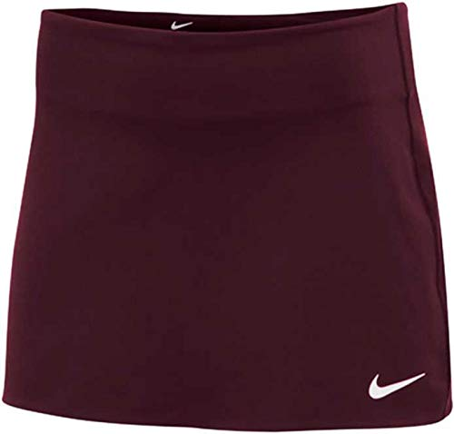 Nike Women's Court Power Spin Tennis Skirt (Dark Maroon, Small) ()