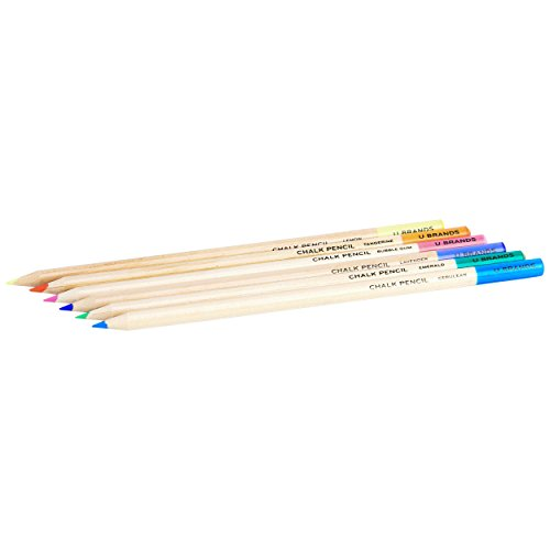 U Brands Chalkboard Colored Pencils, Assorted Colors, 6-Count by U Brands (Image #2)
