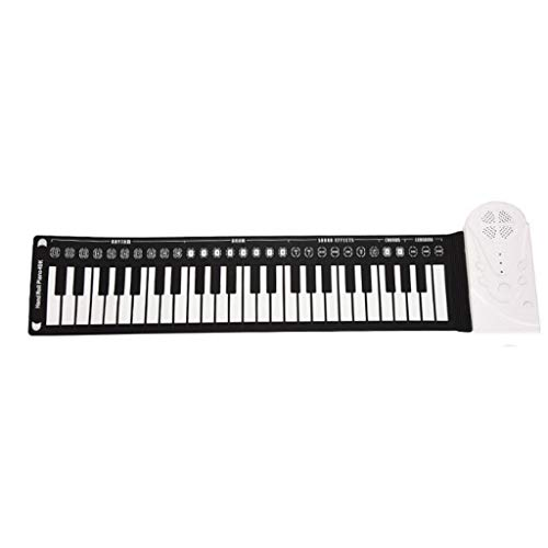 Alimao Flexible 2019 New Roll Up Electronic Soft Keyboard Piano Portable 49 Keys Gift For Kids White