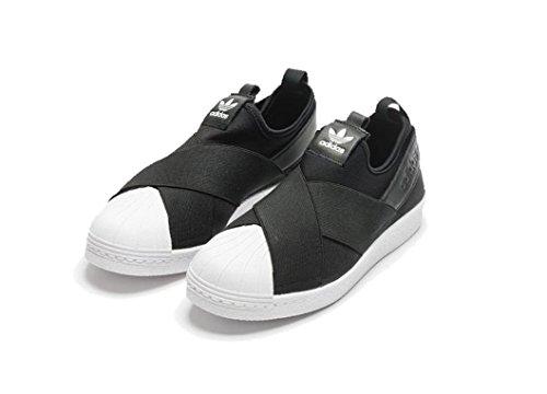 free shipping 72ef3 e79bb Amazon.com | adidas Superstar Slip S81337 Black | Sneakers