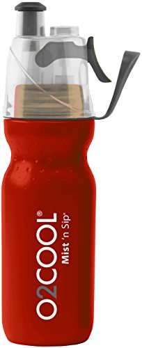 O2 Cool Mist 'N Sip Drinking and Misting Bottle ArcticSqueeze Classic - 20oz, Red