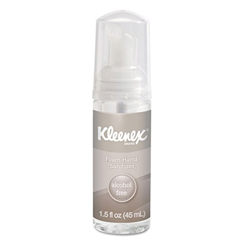 (Kleenex 34136 Alcohol-Free Foam Hand Sanitizer, 1.5 oz, Clear (Case of 24))