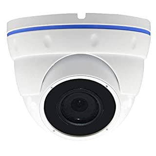 Urban Security Group Motorized 2.8-12mm Lens 5MP H.265 IP PoE Dome Security Camera: 2592x1944, 4X Optical Zoom, IR LEDs, Weatherproof, ONVIF 2.6 : Business Grade