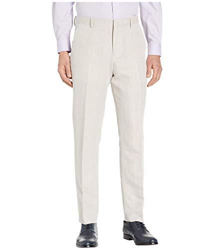 Perry Ellis Men's Portfolio Modern Fit Linen Blend Pants, Natural, 32x29
