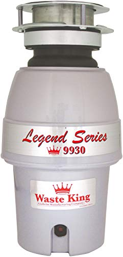 (Waste King Legend Series 1/2 HP Professional 3-Bolt Mount Sound Insulated Garbage Disposer)
