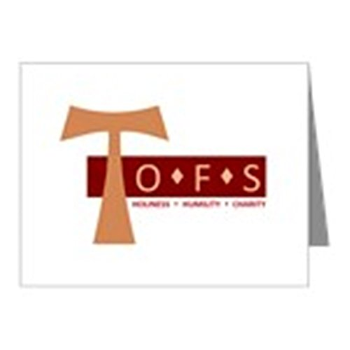 CafePress - OFS Secular Franciscan Note Cards (Pk Of 10) - Blank Note Cards (Pk of 10) Matte