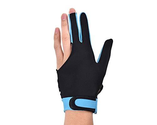 Ace Select Billiard Pool Cue Glove 1 Piece, 3 Fingers Elastic Lycra Stretchable Snooker Glove - Sky Blue ()