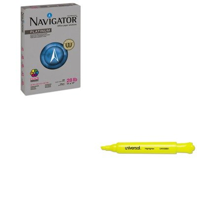 KITSNANPL1728UNV08861 - Value Kit - Navigator Platinum Paper (SNANPL1728) and Universal Desk Highlighter (UNV08861)