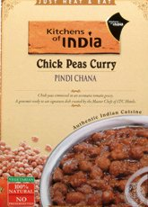 Kitchens Of India Ready To Eat Pindi Chana - Chick Pea Curry - 10 oz