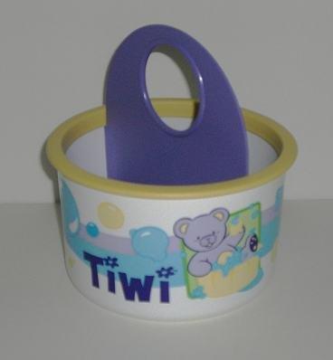 Tupperware Tiwi Baby Bear Care Set / Sink Caddy in White, Bubblegum Purple, Blue, Yellow & Green
