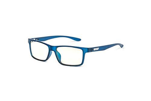 (GUNNAR Youth Gaming and Computer Eyewear /Cruz, Navy Frame, Clear Tint - Patented Lens, Reduce Digital Eye Strain, Block 35% of Harmful Blue Light)