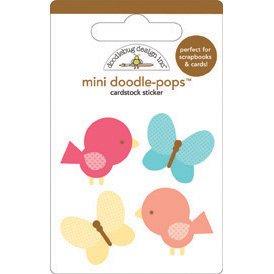 DOODLEBUG Flower Box Doodle-Pops Embellished 3-D Stickers-Take Flight