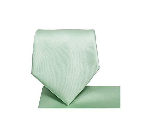 - Men's Solid Color Microfiber NeckTie (Mint Green) #100-V