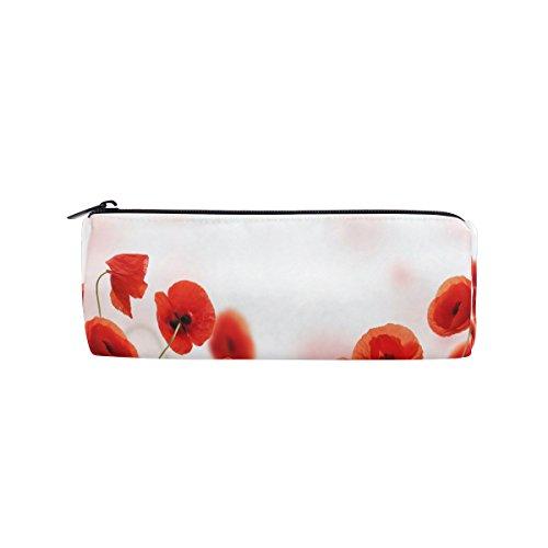 ALAZA Watercolor Print Elegant Poppy Field Red Flower Pen Pe