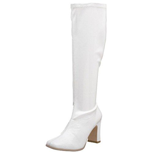 Funtasma Kiki-350 Dames Sandalen Witte Stretch Lak